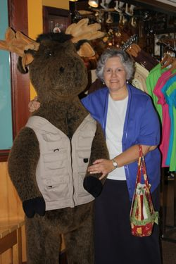Deb and her Moose
