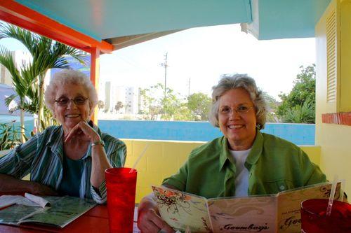 Granny & Deb at goombay's