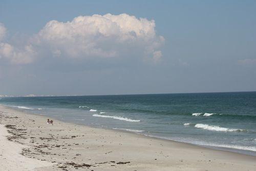 Quiet beach day