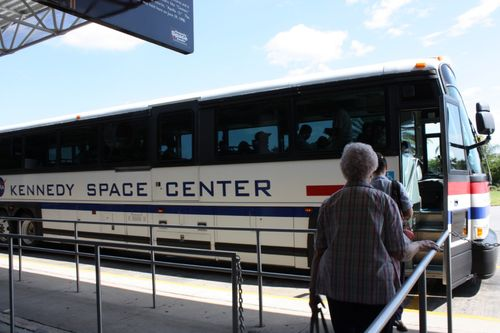 Kennedy Space Center tour bus