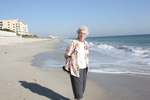 Granny on the beach!