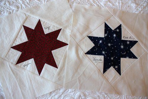 star blocks by Sarah and Deb