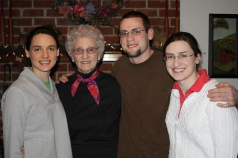 Granny with Hannah, Jonathan, and Sarah