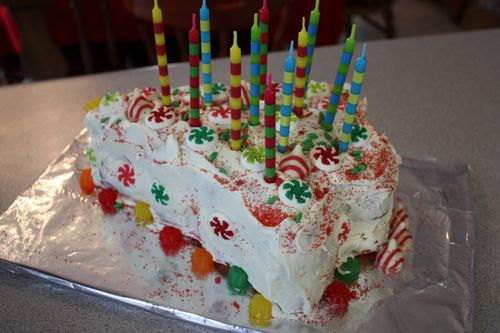 Christmas Tree Birthday Cake
