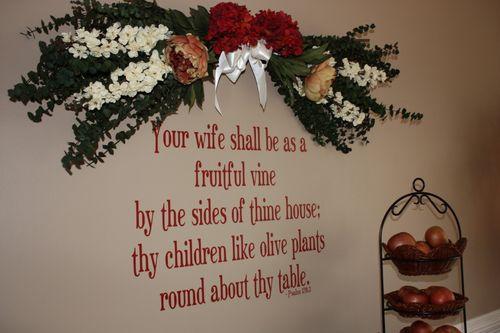 Favorite scripture wall