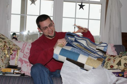 Quilt on Christmas Morning 2010