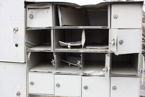 Crushed mailboxes