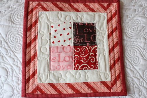 Quilted Love ~ made by my friend Chris