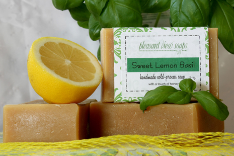 Sweet Lemon Basil Pleasant View Soaps