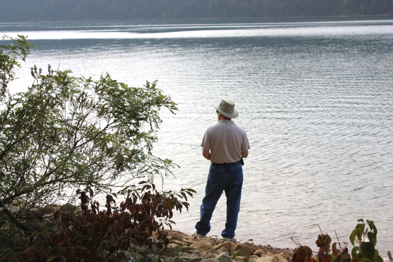 Tom fishing at Holston Lake
