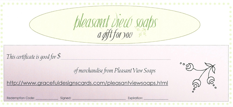 Pleasant View Soaps gift certificate