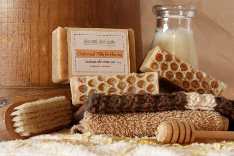 Oatmeal, Milk, and Honey Pleasant View Soaps