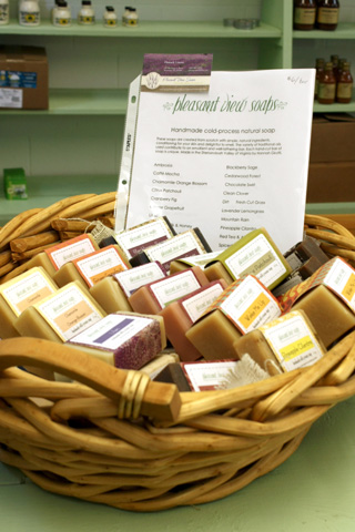 Basket of soaps