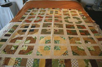 Orange Pile Quilt