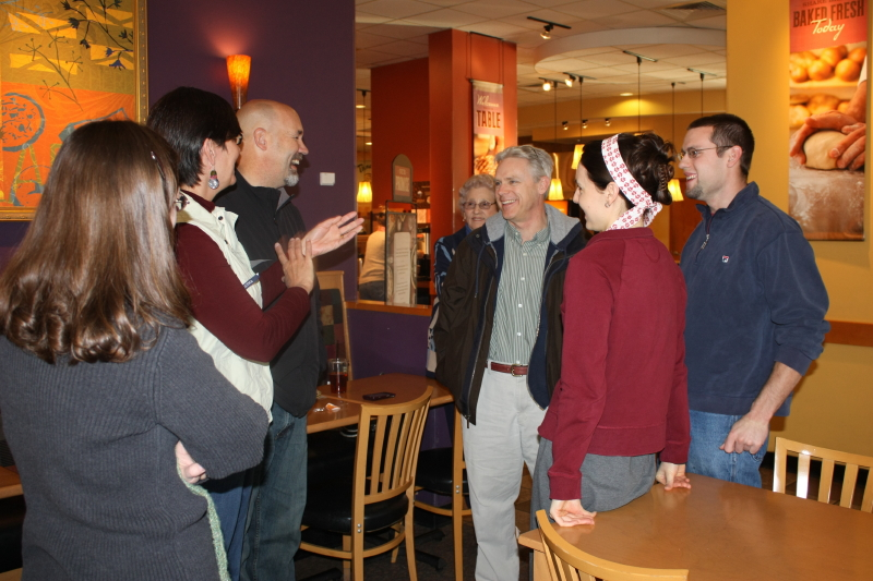 Tom & Ann meeting with us at Panera Bread