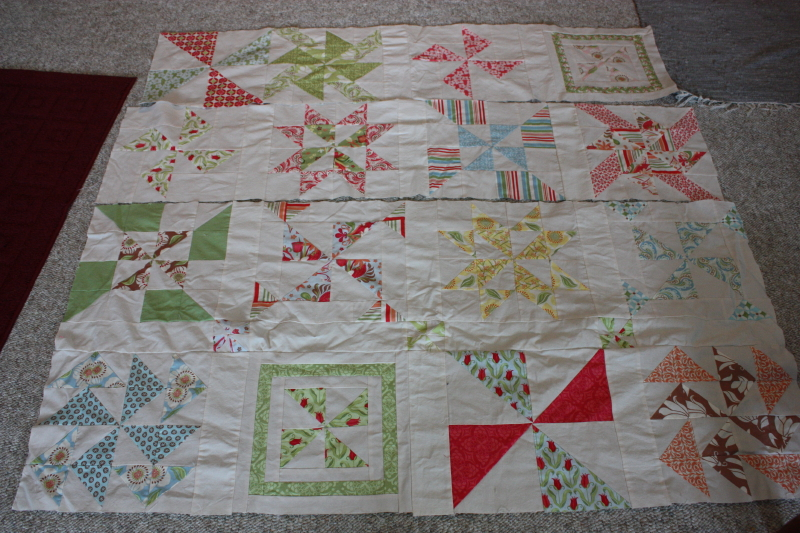 Pinwheel Sampler- this needs finishing!