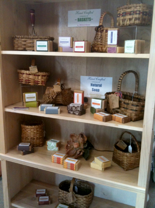 Baskets and Soap Display
