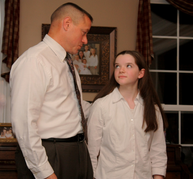 a father/daughter precious moment