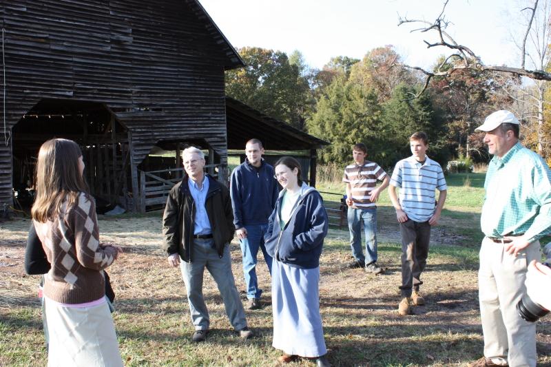 Touring the Toms' farm