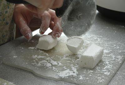 Sarah ~ Cutting marshmallows