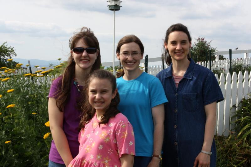 Abby & Emma with Hannah & Sarah