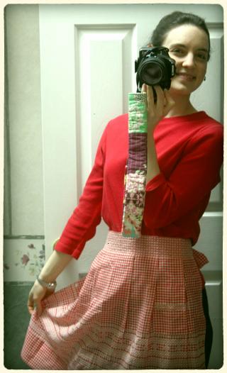 hannah in vintage apron