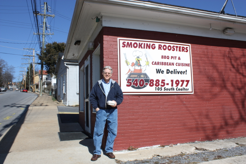 Tom at Smoking Roosters