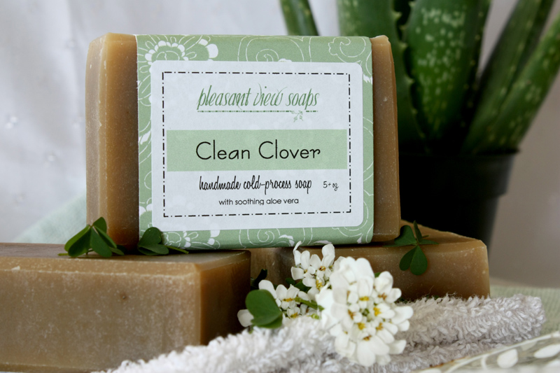 Clean Clover Pleasant View Soaps aloe spirulina clover shea butter
