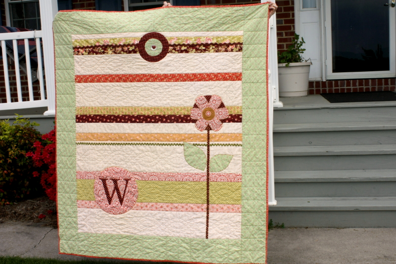 Front of Wallflower quilt