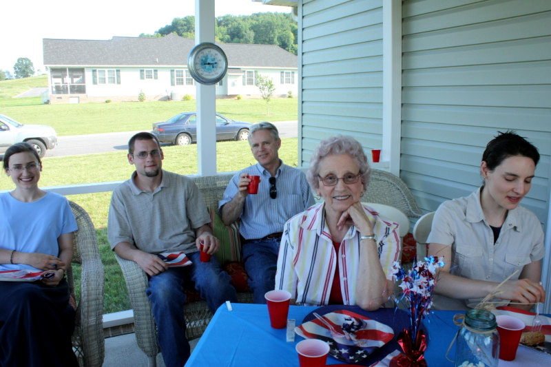 Sarah, Jonathan, Tom, Granny, & Hannah over at Kendra's ~ Memorial Day 2012