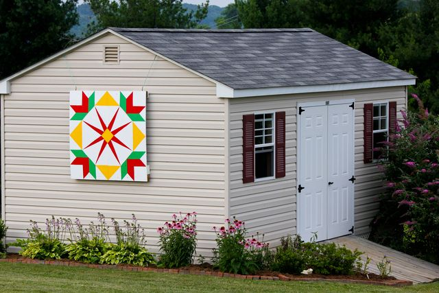 Garden Shed with Barn Quilt