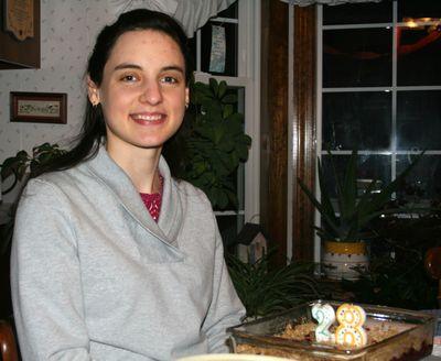 Celebrating Hannah's 28th birthday ~ January 9 ~ Raspberry Crisp instead of birthday cake
