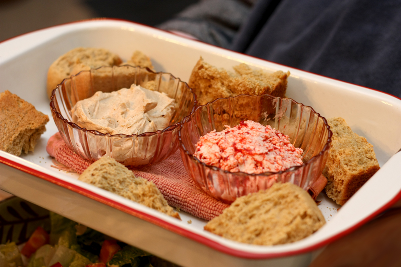 cinnamon and strawberry whipped butters