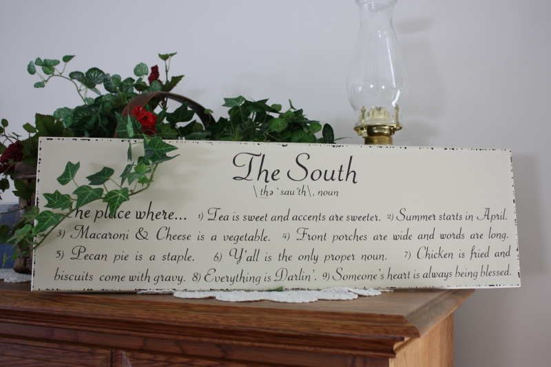 The South ~ The Place Where I Belong