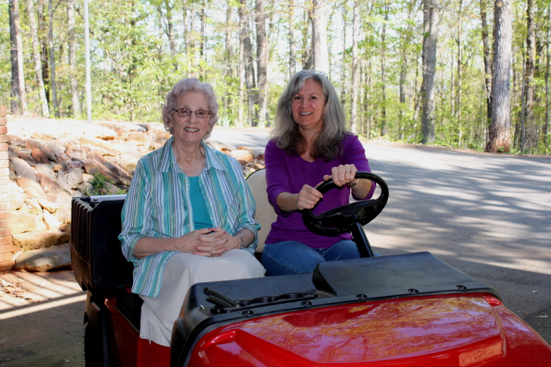 Granny & Lisa on a ride!