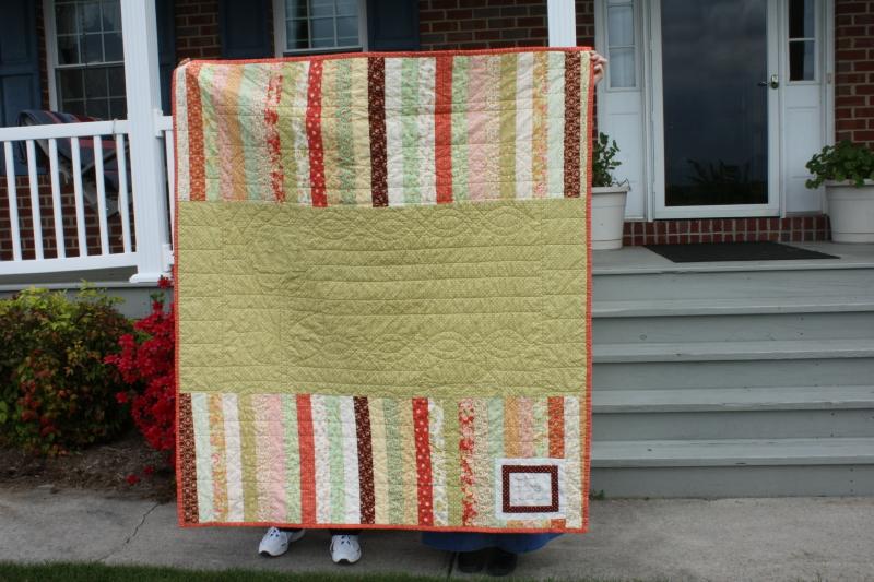 Back of Wallflower Quilt