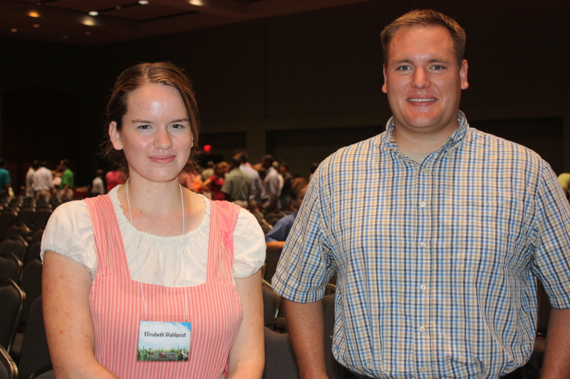 Beth and Erich ~ betrothed July 13 at the conference