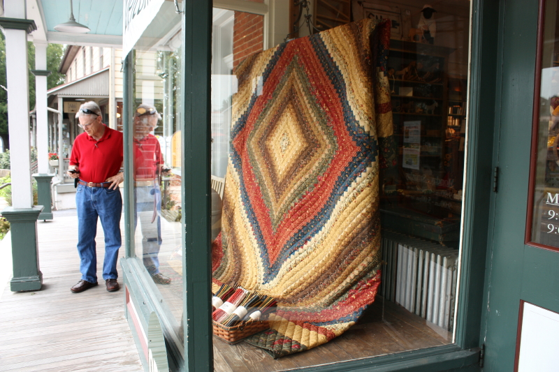 Beautiful showcased quilt