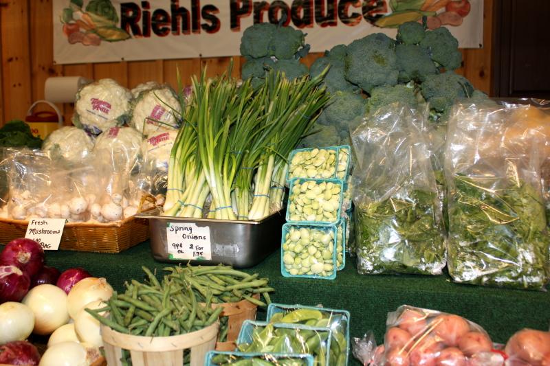 Veggies at Farmer's Market in Bird-in-Hand, PA