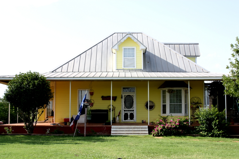 Erich and his family's yellow house in Texas