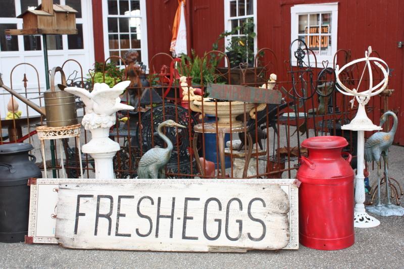 Village Antique Market display