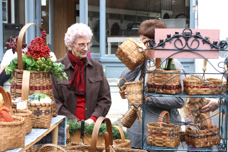 Granny works her selling magic and sold over 50 baskets!