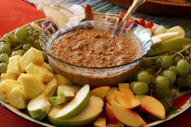 Fruit Platter with Cookie Dough Dip
