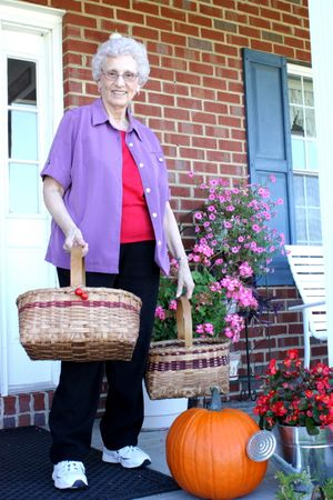 Granny and her baskets ~ ready for Dayton Days