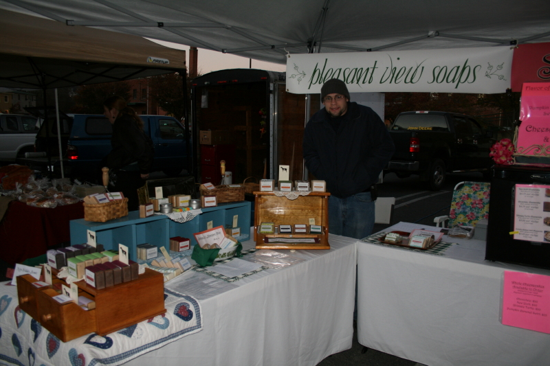 Jonathan on a very cold market morning!