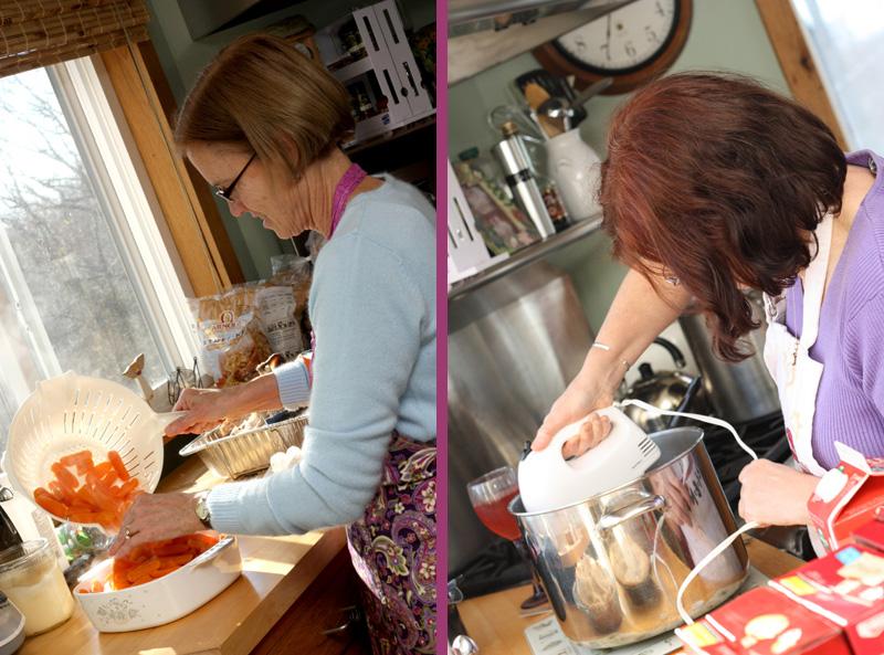 aunts fixing food