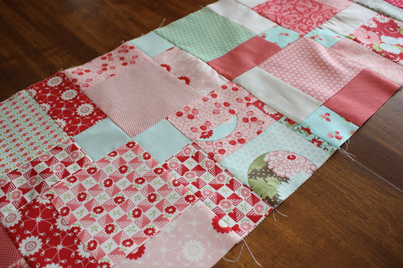 Closeup table runner