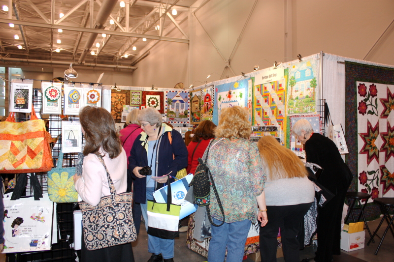 Perusing Vendor Booths ~ lots to see!