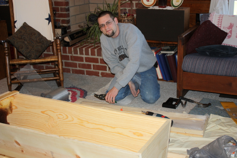 Jonathan building new hives