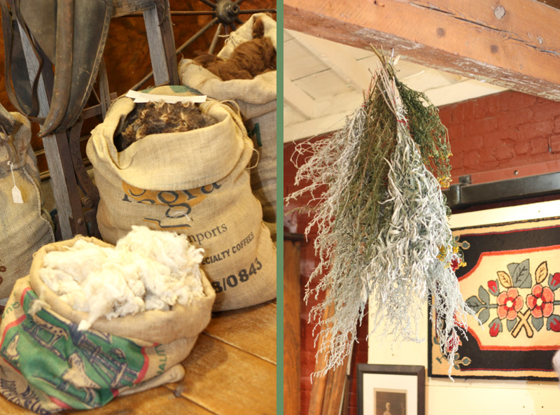 wool and herbs at Appalachian Piecework